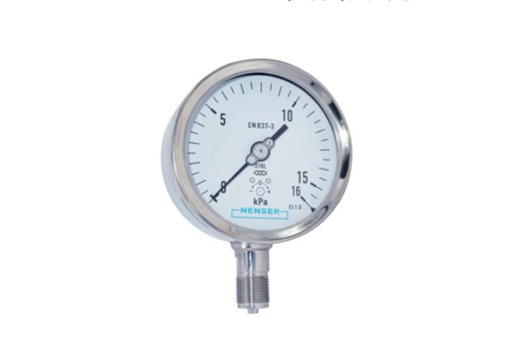 工业型膜盒压力表